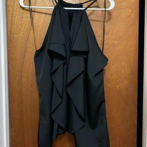 Large ruffle front Jennifer Lopez shirt